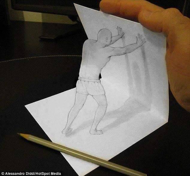 En Güzel 3D Kara Kalem Çizimleri 9