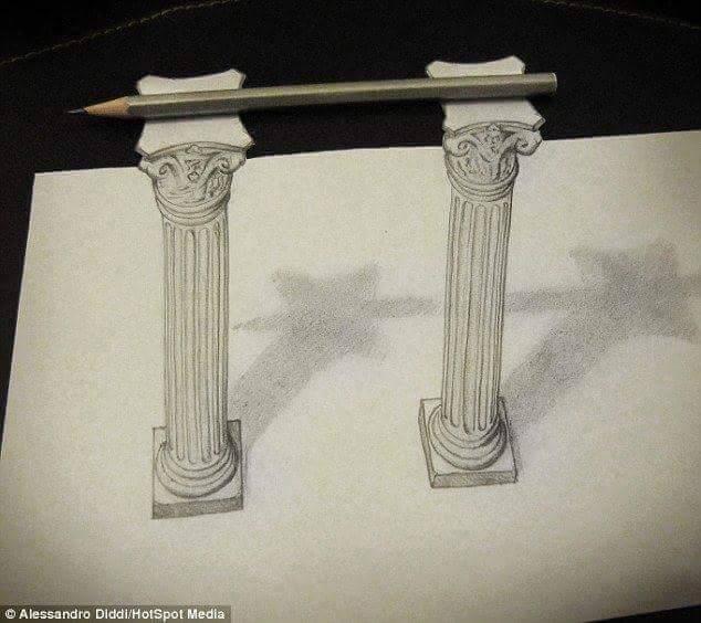 En Güzel 3D Kara Kalem Çizimleri 7