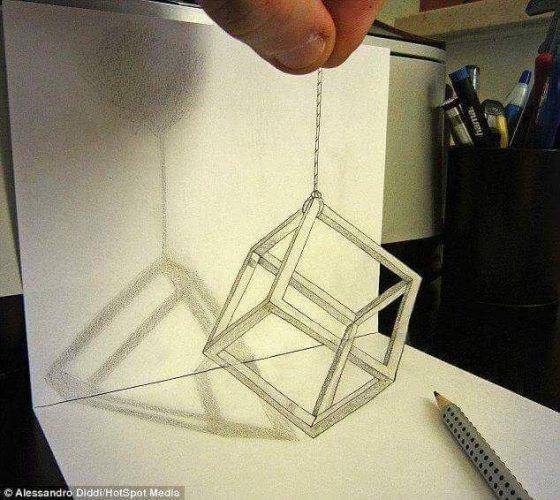 En Güzel 3D Kara Kalem Çizimleri 3