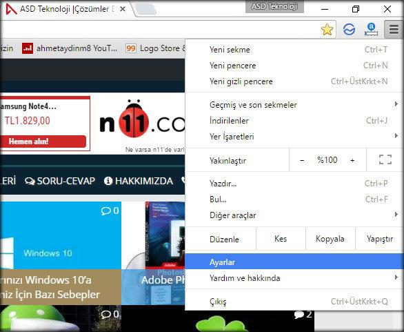 Chrome-ayarları