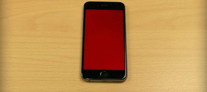 iPhone-6-Kırmızı-Ekran